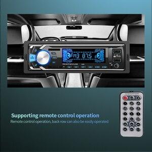 Image 4 - 12 5V デュアル USB ワイヤレスカーキット多機能車の Fm/TF カード/AUX/MP3 ラジオプレーヤー手通話高速充電車の充電器キット