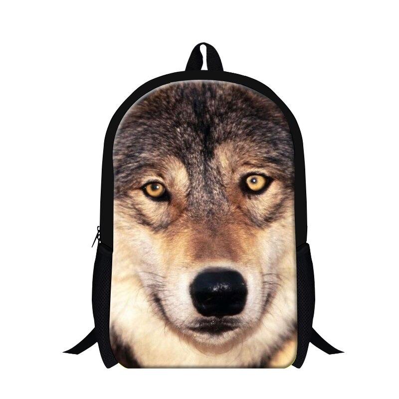 a2bdca438b7bb الأطفال الحقائب المدرسية dispalang 3d الحيوان الذئب طباعة بنات بنين رجل 16  بوصة حقيبة الطفل المدرسية الصغيرة كتاب mochila