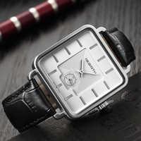Reloj de hombre REBIRTH 2019, relojes de lujo de la mejor marca, reloj cuadrado 2019 para hombre, reloj de negocios de cuero para hombres, reloj masculino saat