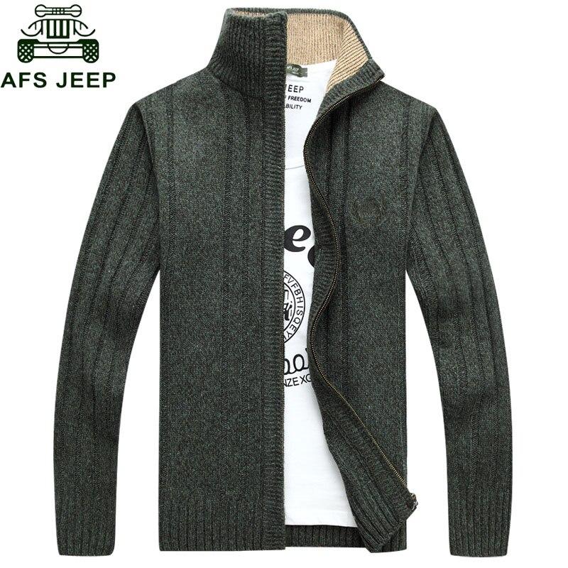 New Arrival Factory Wholesale Price Afs Jeep Plus Velvet High Qualtiy Sweaters Warm Fashion Men Winter Thick Size M-3xl Year-End Bargain Sale Men's Clothing