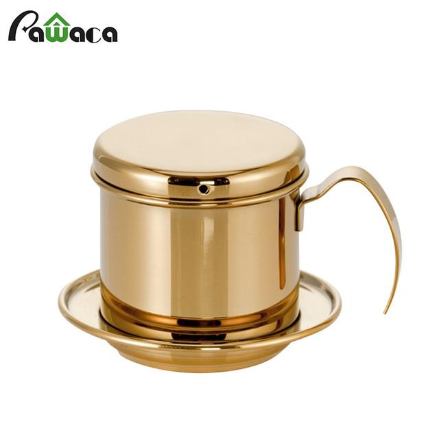 Portable Coffee Maker Pot Stainless Steel Vietnamese Coffee Drip