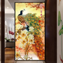 5D Peacock Diamond Painting Full Rhinestone DIY Embroidery Animal Cross Home Decoration 95x50cm