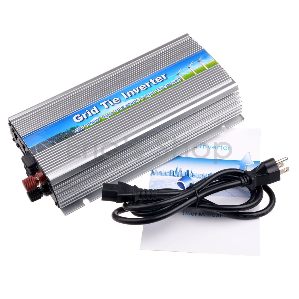 1000W Grid Tie Inverter DC10.5-30V to AC230V Pure Sine Wave Power Inverter Fit for 18V/36cells Solar Panel CE Send from AU/UK 1500w grid tie power inverter 110v pure sine wave dc to ac solar power inverter mppt function 45v to 90v input high quality