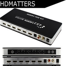 HDMI Matrix 4X2 Switch Splitter with toslink&stereo audio 4kX2K/30HZ Supported(China)
