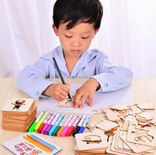 Let's make Learning Education Baby Toys Wooden Drawing Toys Baby Gifts Birthday Present Montessori Children Toys Blocks