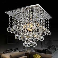 mini led crystal chandelier crystal lustre modern led ceiling lamp lights 22 x 22 square 1 light free shipping