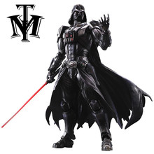 Anime Movie Star Wars Darth Vader Action Figure Movable Gewrichten Playarts Kai Beeldje Hot Speelgoed Model Play Arts Kai Poppen juguetes(China)