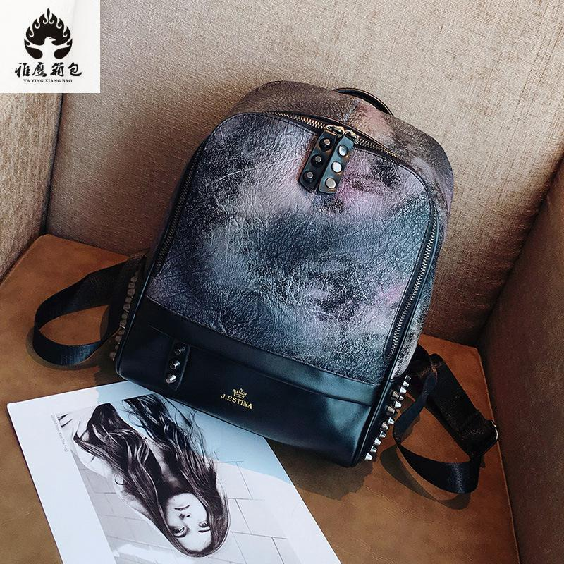 2018 Candy Color Pu Leather Women Backpacks Fashion Trend Casual Girls School Bags Printed Backpack Shoulder Bag Mochila promotion dual use women shoulder bag backpack japan korean style girls pu leather college students school bags mochila