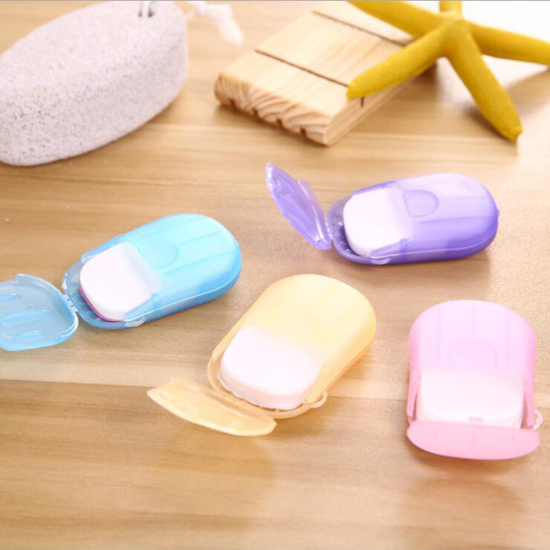 Image 2 - 20pcs Portable Disposable Soap Paper Whitening Exfoliating Mini Outdoor Travel  Camping Hiking Tools Wash Clean Hands Heath Care-in Outdoor Tools from Sports & Entertainment