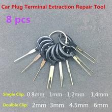 18 stücke Auto Auto Stecker Platine Kabelbaum Terminal Extraktion Demontiert Crimp Pin Zurück Nadel Entfernen Tool Kit