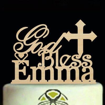 Excellent Big Discount D30D God Bless Wedding Cake Topper Monogram Funny Birthday Cards Online Necthendildamsfinfo