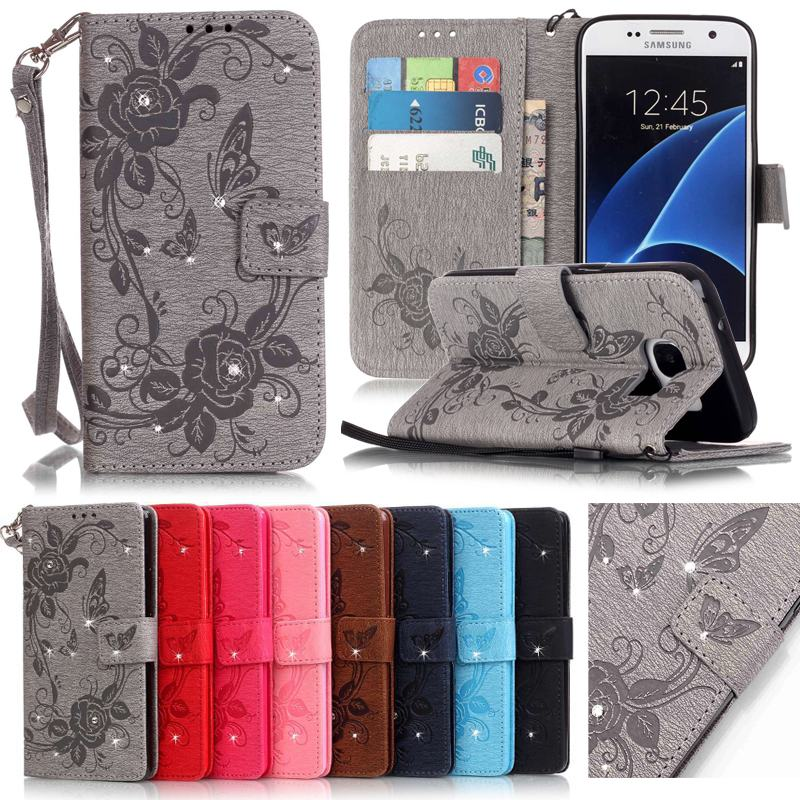 For Coque Samsung Galaxy S7 Case Leather Wallet Cell Phone Cases Samsung Galaxy S7 Edge Case Flip Cover Luxury 3D...  samsung galaxy s7 edge case | Samsung Galaxy S7 Edge Cases From Spigen For Coque font b Samsung b font font b Galaxy b font font b S7 b