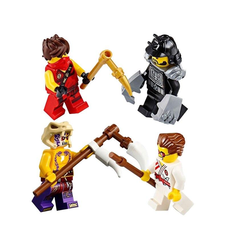 Ninjagoed 10319 214 шт. ниндзя тренировочное Строительный кирпич блоки Развивающие игрушки для мальчиков Совместимость с Legoingly для подарков