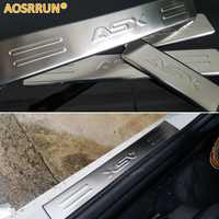 Free Shipping Mitsubishi ASX RVR Stainless Steel Scuff Plate Door Sill 4pcs Set Car Accessories For