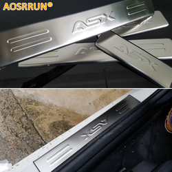 AOSRRUN Free Shipping stainless steel scuff plate door sill 4pcs/set car accessories for Mitsubishi ASX 2011 2012 2013 2014 2018