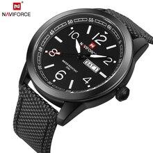NAVIFORCE Original Marca de Luxo Relógio de Quartzo Militar Esportes Homem Analógico Data Relógio Cinta de Nylon relógio de Pulso Relogio masculino