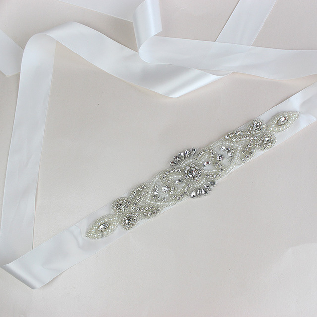 2017 New Fashion Luxury Wedding Belts Beaded Pearls Bridal Sash Handmade Crystal Bridal Sashes For Bridal XW54