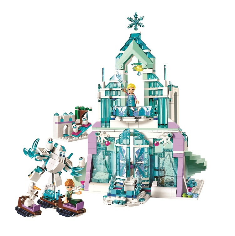 731pcs Princess Series Elsa s Magical Ice Palace 10664 DIY Model Building Blocks Assemble Bricks Toys
