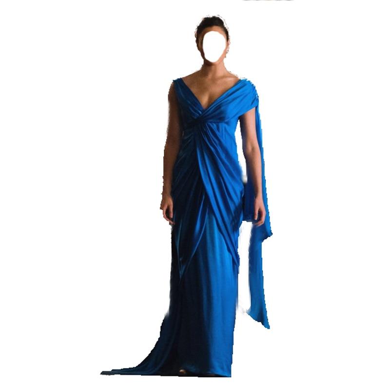 Wonder Woman super hero cosplay costum bleu robe partie robe
