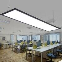 Современные светодиодные Алюминий Панель свет Простой LED чип офис люстра прямоугольная Обеденная исследование ультра тонкий Акрил плоские
