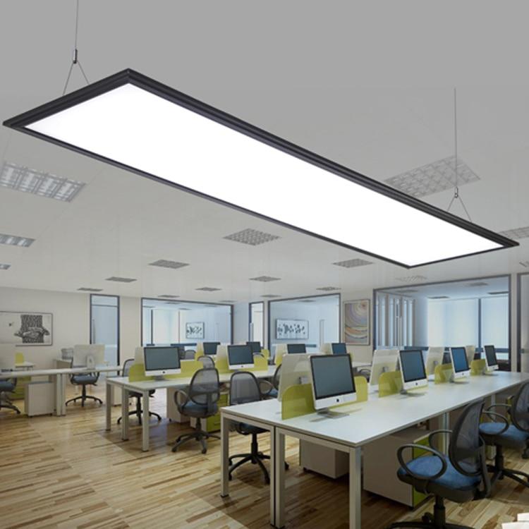 Luci Led Ufficio.Us 243 0 Moderno Led In Alluminio Luce Di Pannello Led Semplice Ufficio Di Chip Lampadario Studio Sala Da Pranzo Rettangolare Ultra Sottile Acryl