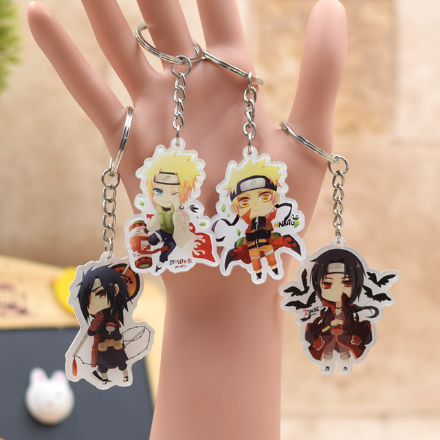 Naruto Anime Action Figure Key Ring Pendant Accessories Keychain