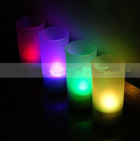 Voice Controlled LED Cup Lights With Changeable Color (Set of 4) For Wedding Favors Supplies Wholesale & Retails Free Shipping