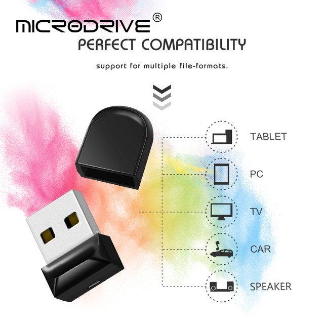 Small Mini Black USB flash drive 4GB 8GB 16GB Pendrive 32GB 64GB Clef usb stick 128GB Pen drive Memory disk for Car PC usb flash