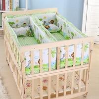 Многофункциональный детская кроватка Twin детские кроватки твердой древесины Детская кроватка Rolling детский манеж, детская кроватка для ново