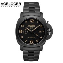 2016 Original Swiss Brand Agelocer watch men Carbon Ceramic GTM Army watch sports wristwatch Military Wrist Watches Relogio