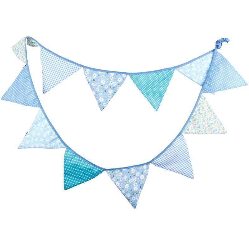 Triángulo Banderín Guirnalda Tela de Algodón Bandera Banderas Fiesta de Cumpleañ