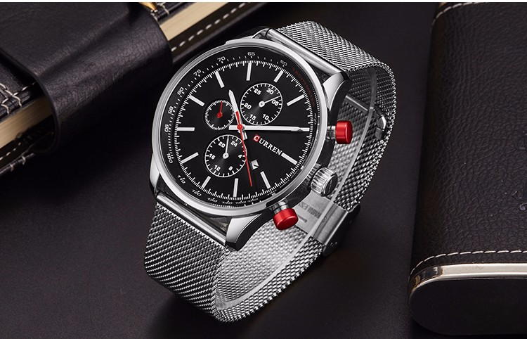 HTB106tsGHuWBuNjSszgq6z8jVXap Fashion Watch men Luxury top brand steel men watch waterproof Wristwatch Men Clock quartz watch gold sports casual CURREN 8227