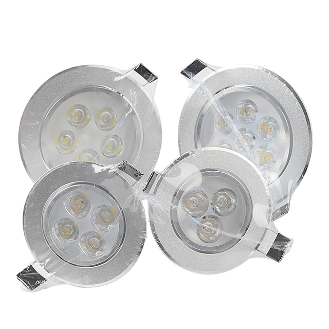 Dimmable Recessed LED Panel Lamp Ceiling Down Lights 9W 12W 15W 18W 21W Epistar