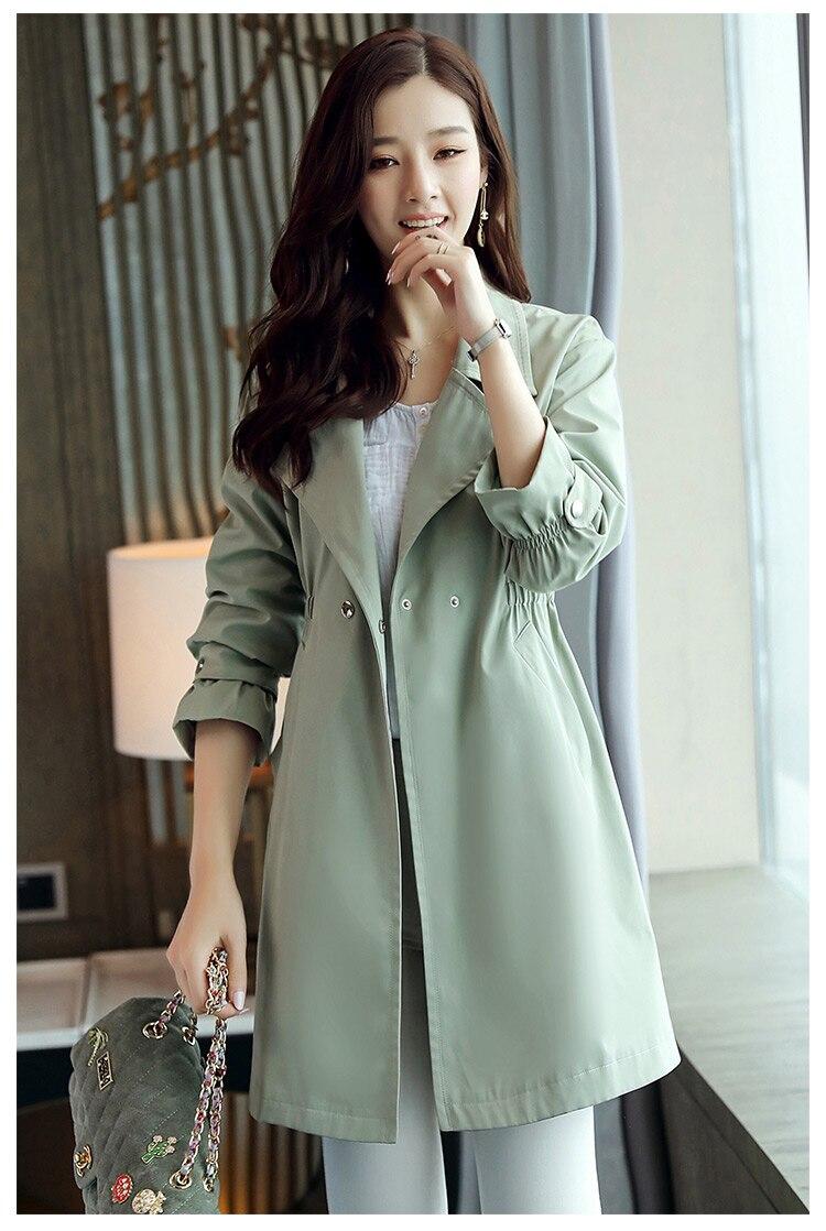 vent Trench 936 Green coréen Vêtements Manteau khaki Une coat Nouvelle 2019 Coupe Femme Qualité Femmes Mode Wine Supérieure Dames Hauts Acheter red Mince Printemps De WH2Y9bIeED