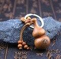 Wood Carving Gourd Pendant Car Key Ring Pendant,China Fluke Peace Pendant,Car Hanging Accessories,#R164-6