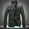 2016 top moda Para Hombre Chaquetas De Invierno gruesa abajo del collar del soporte de down Parkas hombres M-4XL yardas grandes abrigo #037