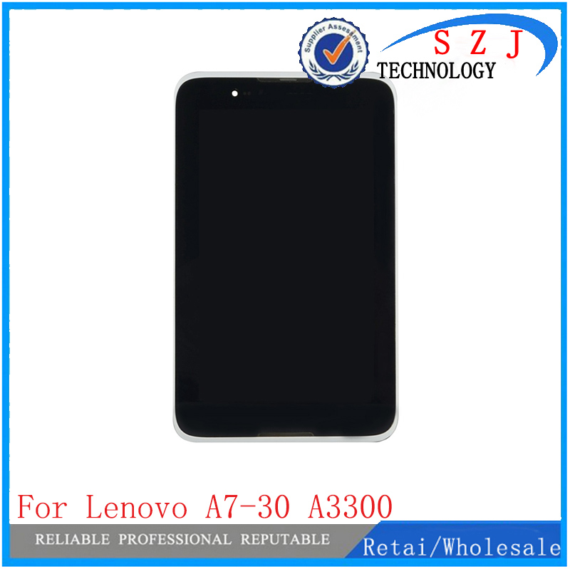 New 7'' inch For Lenovo A7-30 A3300 Tablet Touch Screen Panel Digitizer Glass + LCD Display Screen Panel Assembly + Frame for asus zenpad c7 0 z170 z170mg z170cg tablet touch screen digitizer glass lcd display assembly parts replacement free shipping