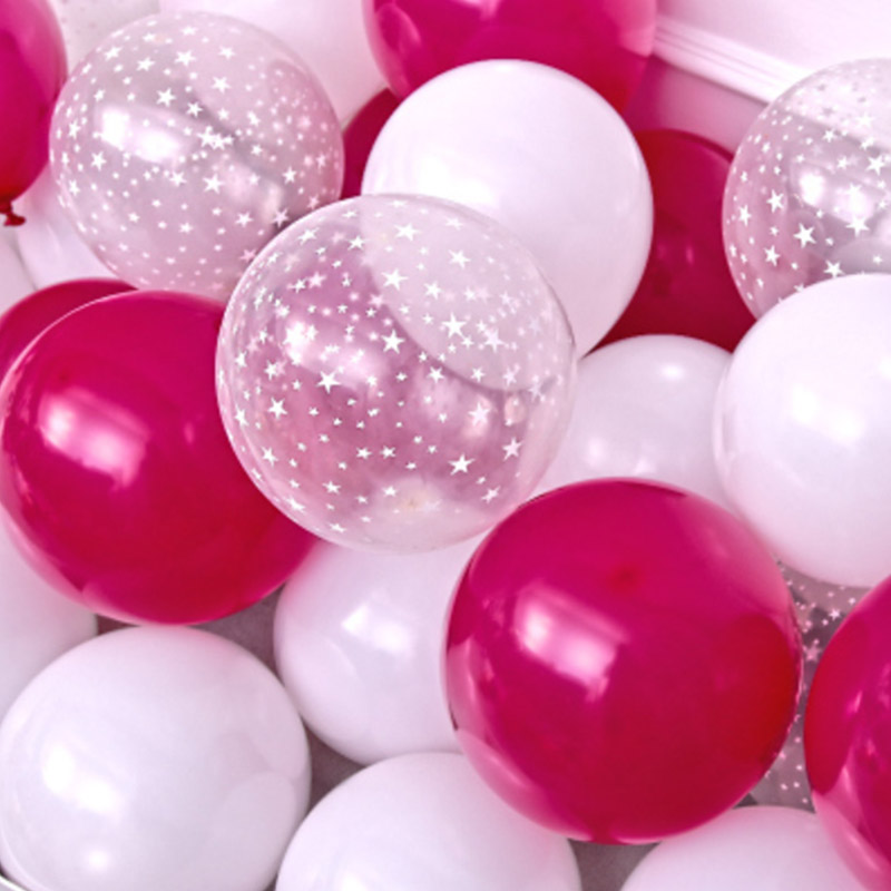 20pcs 12 inch Latex Star Gold Pink Balloon Set For Wedding And Home Decoration 4