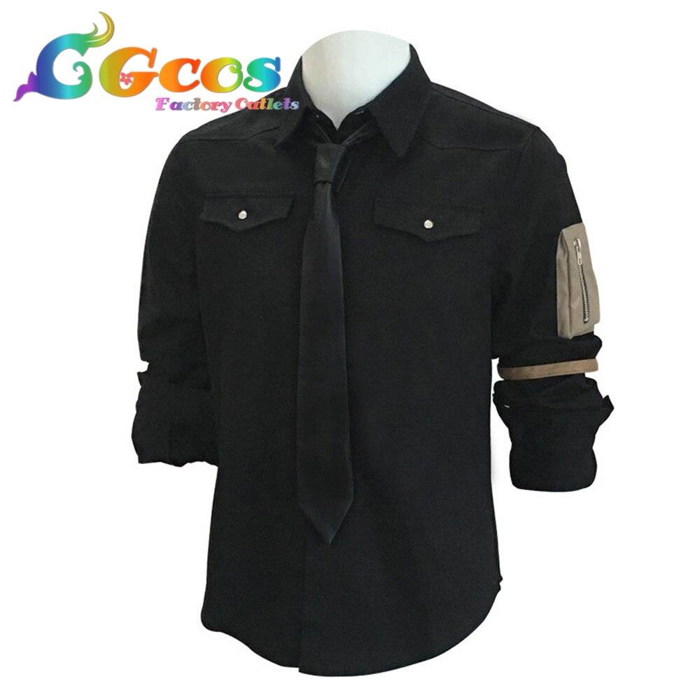 CGCOS Coplay vêtements partie jeu de rôle uniforme Cosplay Costume Playerunknowns champs de bataille Anime jeu noir chemise personnalisation