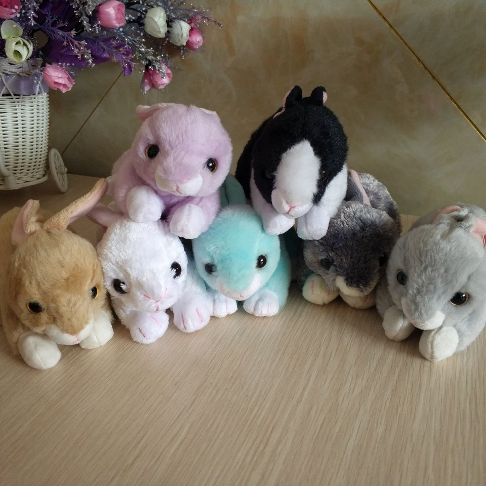 Lilac Nibbler checkers SMOKEY bunnie cotton rabbit white bunny TY BEANIE  Babies 1PC 12CM Plush Toys 3e8e44ea0a1f