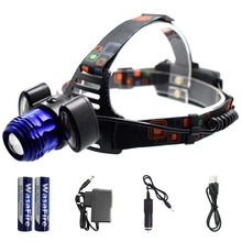 LED Headlamp Rechargeable Zoom 9000LM 3 LED T6 COB Headlamp 18650 Head Lamp Light Waterproof Headlight Camping Flashlight Torch