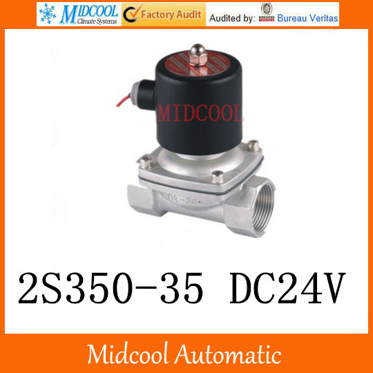Livraison gratuite 2 S série électrovanne eau air 2S350-35 24 V G1/4