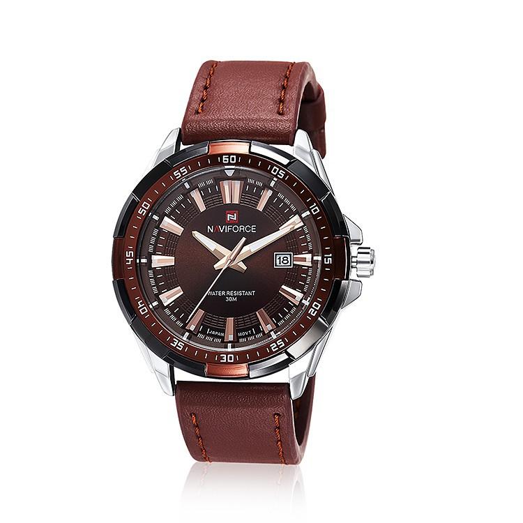Mens Watches Top Brand Luxury NAVIFORCE Sport Men's Quartz Watch Waterproof Wristwatch Leather Male Clock Relogio Masculino 11