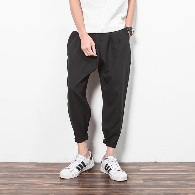 Design de Bolso exclusivo Mens Basculadores Mens Harem Pants Moda Slim Fit Calças Casual Calças Compridas Sweatpants B80