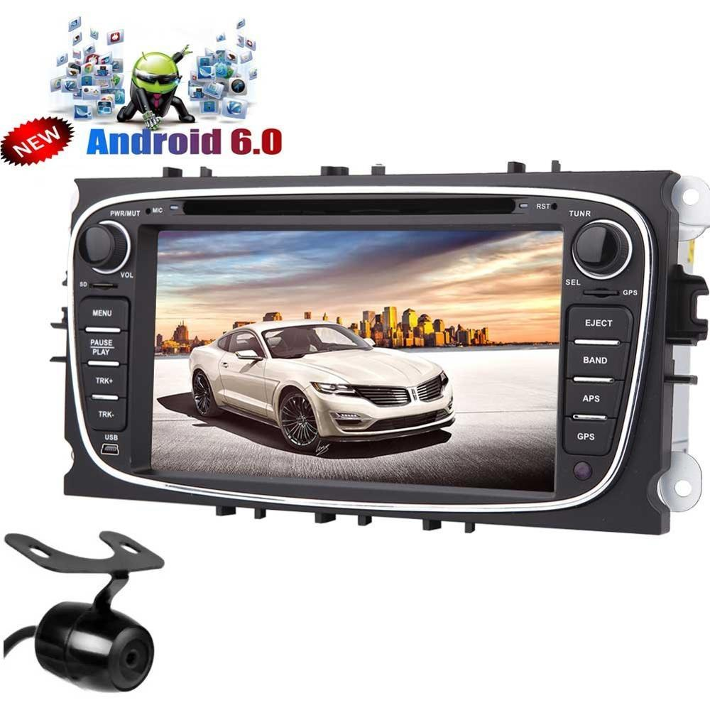 android 6 0 car stereo gps 4 core for ford focus double. Black Bedroom Furniture Sets. Home Design Ideas