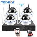 Techege 4ch play & plug inalámbrica 1080 p nvr 2.0mp/1.0mp hd sistema al aire libre cámara ip wifi eseenet app sistema de vigilancia cctv