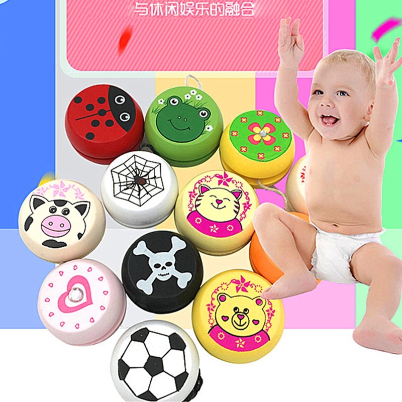 2019 Explosion Yo yo Children 39 s eco friendly material Wooden Puzzle fun Cute pattern Animal avatar creative Yo Yo Toys in Yoyos from Toys amp Hobbies