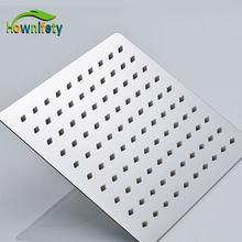 O envio gratuito de aço inoxidável cromo cabeça de chuveiro 6-12 polegada chuvas celiling/fixado na parede do banheiro chuveiro acessórios