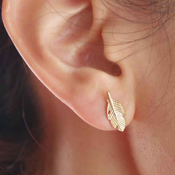 Fallen Leaves Stud Earrings