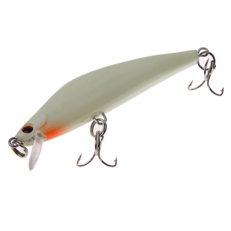 8.5cm 9g Artificial Floating Minnow Lure 3D Luminous Night Fishing Isca Artificial Hard Bait Hook Tackle 3D Fish Eyes H1E1